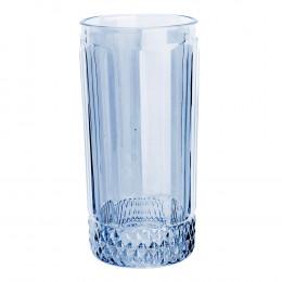 Jogo de 6 Copos Altos Splendor em Cristal Azul - 360ml 15cm