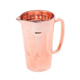 Jarra Curves Rose Metalizado - 19,8x9x13,6cm