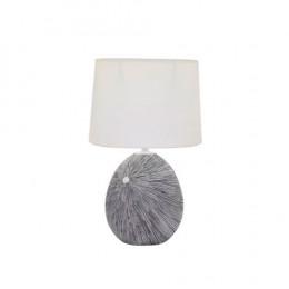 Abajur em Resina Cinza com Cúpula Branca - 43,5x29x29cm