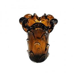 Vaso em Murano Marrom - 24x19x19cm