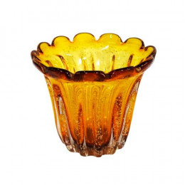 Vaso em Murano Âmbar - 17x20cm