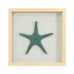 Quadro Decorativo em Resina com Estrela Verde - 45x45cm