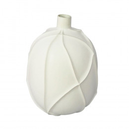 Vaso Decorativo em Cerâmica Branco - 38cm