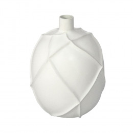 Vaso Decorativo em Cerâmica Branco - 32cm