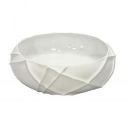 Bowl Decorativo em Cerâmica Branca - 10cm