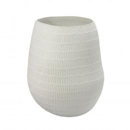 Vaso Decorativo em Cerâmica Branco - 40cm