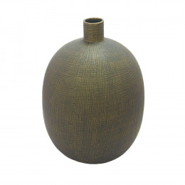 Vaso Decorativo em Cerâmia Cinza - 40cm