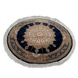Tapete Persa Bege e Azul com Medalhão - 200x200cm