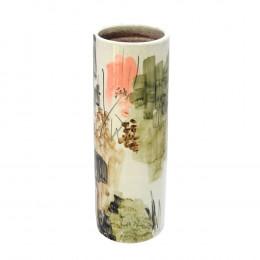 Vaso Decorativo em Cerâmica Colorida - 43x14cm
