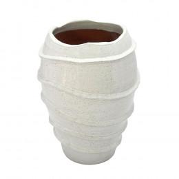 Vaso Decorativo em Cerâmica Branco - 35x23cm