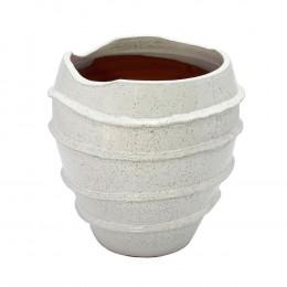 Vaso Decorativo em Cerâmica Branco - 29x23cm