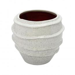 Vaso Decorativo em Cerâmica Branco - 20x21cm
