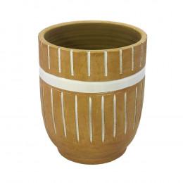 Vaso Decorativo em Cerâmica Terracota - 30x24cm