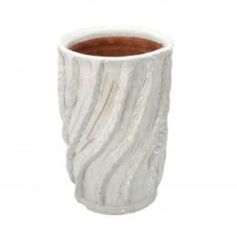 Vaso Decorativo em Cerâmica Branco - 27x18cm