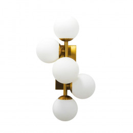 Luminária de Parede em Metal com Vidro - 50x27x22cm