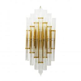 Luminária de Parede em Metal com Vidro - 50x22x15cm