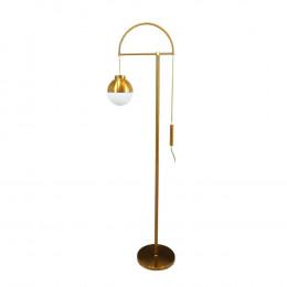 Luminária de Chão em Metal com Vidro - 173x47x30cm
