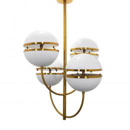Luminária de Teto em Metal com Acrílico - 98x67cm