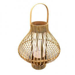 Luminária de Fibras Naturais - 58x38cm
