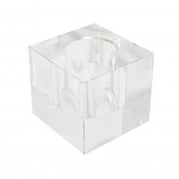Castiçal Decorativo em Cristal Transparente - 08x09cm