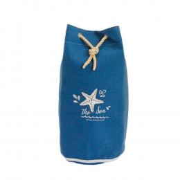 Cesto de Tecido Azul Estrela - 70x40x40cm