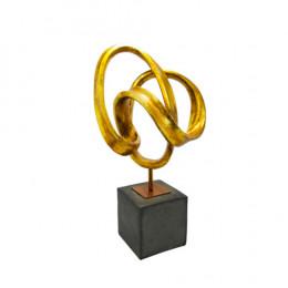 Escultura Decorativa - 64x36x24cm