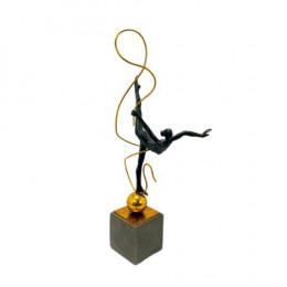 Escultura Decorativa em Resina - 58x11x19cm