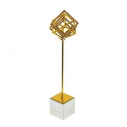 Escultura Decorativa em Metal - 42x10cm