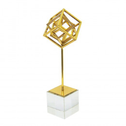 Escultura Decorativa em Metal - 31x9cm