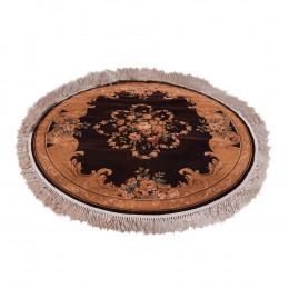 Tapete Persa Redondo Bege e Marrom - 150x150cm