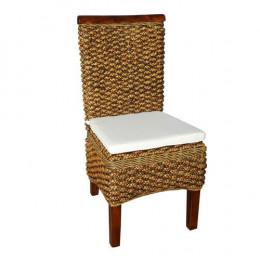 Cadeira para Área Externa Produzida em Madeira e Rattan - 45x100x50cm