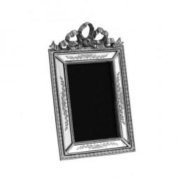 Porta Retrato Revestido em Resina Prata - 24,5x15cm