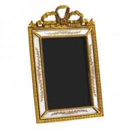 Porta Retrato Revestido em Resina Dourada - 27,5x17,5cm