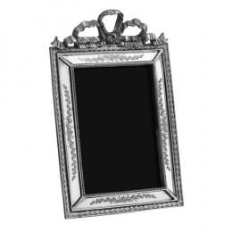 Porta Retrato Revestido em Resina Prata - 27,5x17,5cm