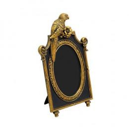 Porta Retrato Revestido em Resina Dourada - 27x16,5cm