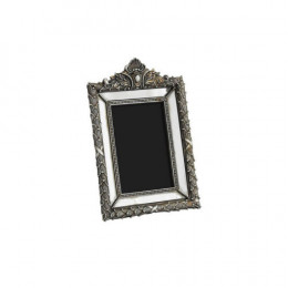 Porta Retrato em Resina Prateado - 24,5x17cm