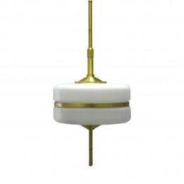 Pendente em Metal Dourado com Vidro Leitoso - 1x35cm