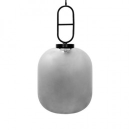 Pendente em Metal com Vidro Metálico - 100x60x40cm