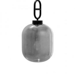 Pendente em Metal com Vidro Metálico - 55x25x25cm