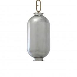 Pendente em Metal com Vidro Metálico - 65x20cm