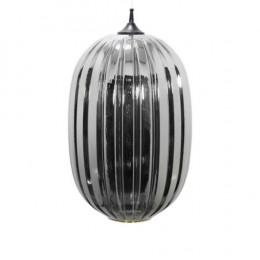 Pendente em Metal com Vidro Metálico - 100x55x35cm