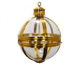 Lustre em Metal Dourado e Vidro - 72x45x45cm