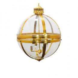 Lustre em Metal Dourado e Vidro - 79x59x59cm