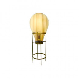 Luminária em Metal Cúpula em Vidro Ambar - 108x40cm