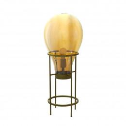 Luminária em Metal Cúpula em Vidro Ambar - 80x30cm