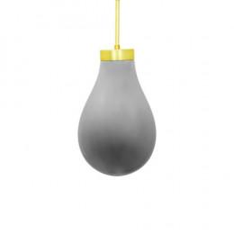 Pendente em Metal com Vidro Metálico - 48x35x35cm