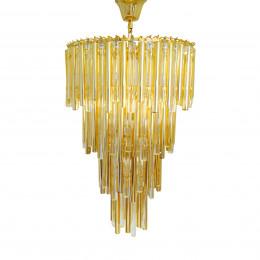Lustre em Metal Dourado com Vidro - 1,90x60cm