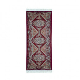 Passadeira Persa Vermelho com Detalhes Bege - 80x250cm