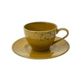 Jogo de Xícaras para Chá Nature Mustard - 12 Peças