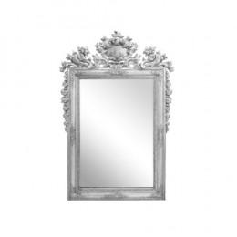 Espelho com Moldura em Resina Prateada - 185x123cm